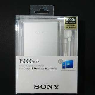 🚚 [售] SONY CP-S15 大容量雙輸出 行動電源 15000mAh (銀) (公司貨)