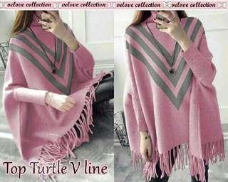 Tot turfle v line pink