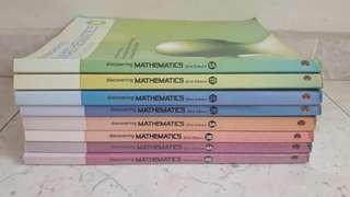 Mathematic (Emath) Textbooks from secondary 1 to 4.