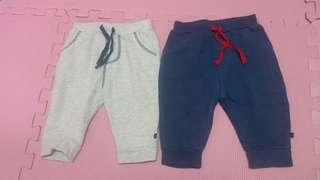 kids pants薄絨褲2條/褲仔