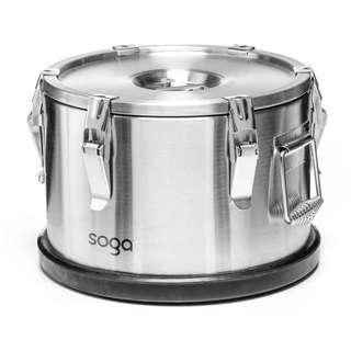 SOGA 304 Stainless Steel Insulated Food Carrier Food Warmer 30*15cm