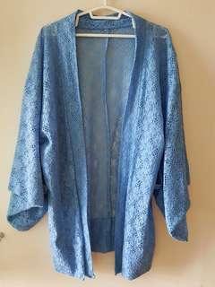Vintage Lace Embroidered Kimono