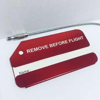 ✈️ 型人必備~Remove before flight 行李扣 luggage tag