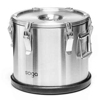 SOGA 304 Stainless Steel Insulated Food Carrier Food Warmer 30*29cm