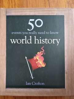 50 events you really need to know world history book brand new