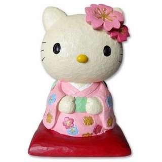 Japan Sanrio Hello Kitty Coin Bank Sakura Kimono