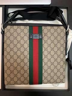 🚚 Gucci 綠紅織帶 斜背包