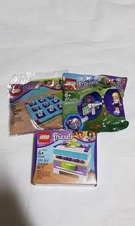 3x Lego Friends: Clubhouse Storage Box Tic Tac Toe