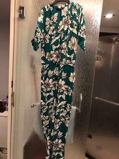 Zara hawaii jumpsuit
