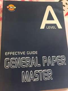 A level GP MASTER GENERAL PAPER  effective guide
