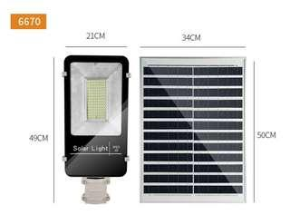 Solar street lamp 100W outdoor waterproof ultra-bright led lamp outdoor road courtyard lamp with wall room for home use