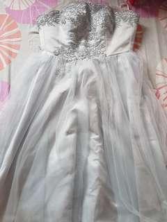 prom dress/bridesmaid dress/tube dress in grey