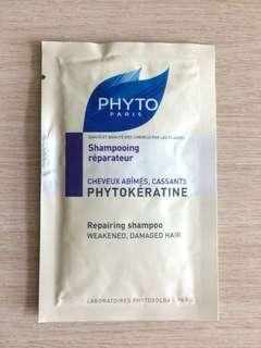 [包郵] $8/1包 PHYTO Paris Repairing Shampoo (Sample 試用裝)