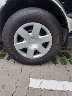 Almost new tyre for van