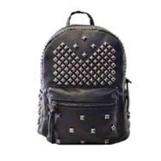 Stylish Backpack (Studded Faux Leather)