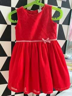 🚚 EUC carter's red dress