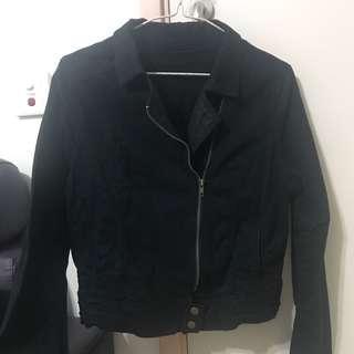黑色型格長袖褸 外套