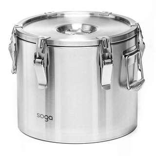 SOGA 304 Stainless Steel Insulated Food Carrier Food Warmer 20L