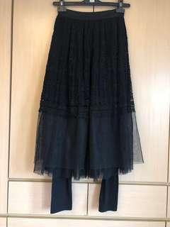 🚚 質感蕾絲 黑紗裙