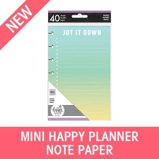 Mini Happy Planner Girl Fill Papers, Healthy Hero