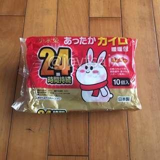 🚚 日本製 10入 24h 小米兔手握式暖暖包