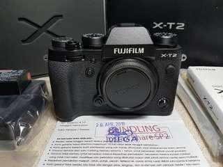 Fujifilm X-T2 XT2 Body Only FFID April19 Mulus Lengkap Bonus