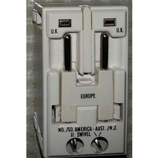 TRAVEL ADAPTER with Surge Protector - Brand: Travel Smart (price includes delivery)