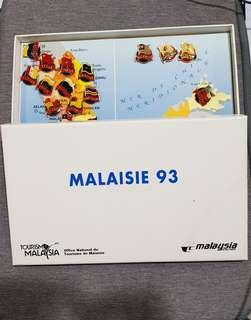 Limited Edition France Malaysian Airlines button badge (Year 1993)