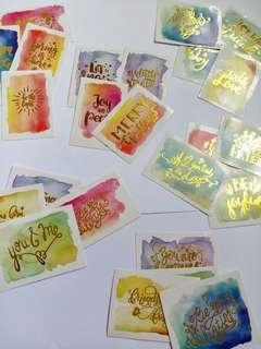 4pcs Golding Message Sticker DIY deco