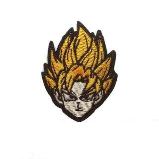 Dragonball Goku Super Saiyan Iron On Patch