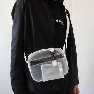 Pvc半透明二合一小包側背包斜背包