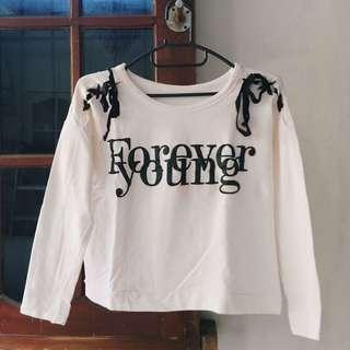 Forever Young Sweatshirt sweater putih/white