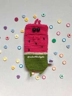 Crochet Watermelon Phone Eater