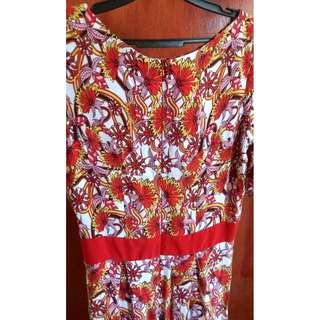 Red Floral Long Dress 🌷