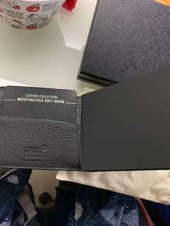 全新真品MONT BLANC銀包