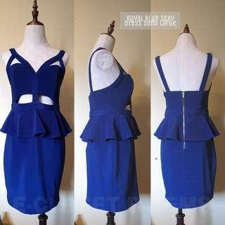 Royal Blue Sexy Dress