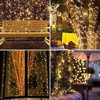 Christmas Lights 100 LED 10m WARM White Indoor/ Outdoor Fairy Lights String Tree Lights Festival/ Bedroom/ Party Decorations Mains Powered 33ft Lit Length, 4m Lead Wire TRANSPARENT Cable