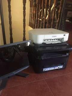 Bundle sale: samsung laser printer/copier/scanner, canon printer,acer monitor