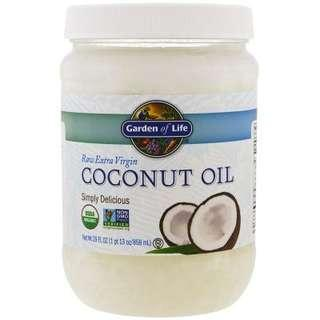 Garden ofLife 原生特級初榨椰子油,29液體盎司(858毫升)Raw Extra Virgin Coconut Oil,29fl oz (858 ml)