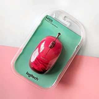 Logitech M105 Corded Precision Mouse (Red)