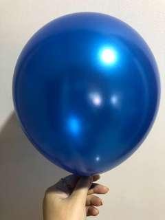 "Party Latex Balloons 10"" Pearl Royal Blue"