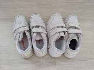 Preloved White School Shoes - 2 pairs @ $10 only!!!