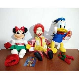 1996年 麥當勞玩具 麥當勞叔叔 米妮 唐老鴨