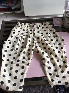 Yellow Pokka Dot Pants