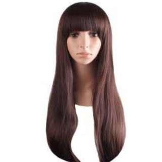 🚚 dark brown wig BANGS