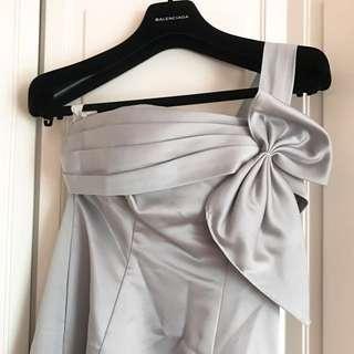 Evening bridesmaid Silver Grey Dress 銀灰 宴會 姊妹 伴娘 魚尾 長裙 晚裝 婚宴
