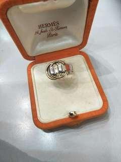 🚚 Hermes正品雙k金環戒