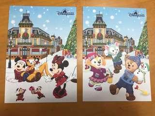 迪士尼貼紙 post card 交換