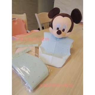 🚚 韓系超實用拋棄式圍兜 一包十入 藍粉兩色