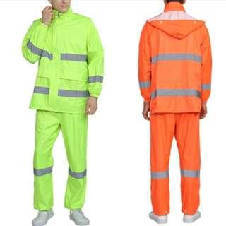 Ready Stocks - Hooded Rain Jacket & Pants Set